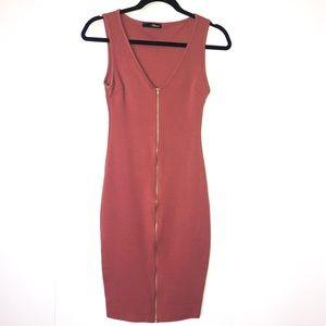 CUTE SLEEVELESS ZIPPER DRESS